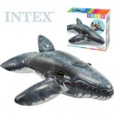 INTEX Velryba nafukovací s úchyty 201x135cm dětské vozítko do vody 57530  DS82567366