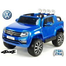 Dětské elektrické autíčko dvoumístné Volkswagen Amarok 4x4, 12V, modrá metalíza