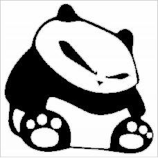 Samolepka Medvídek Panda